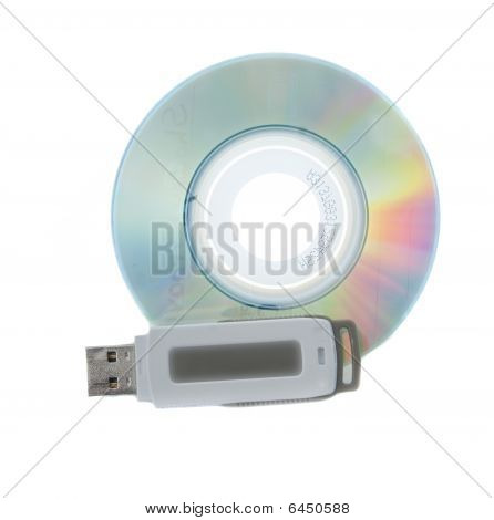 Miniature Cd And Thumb Drive