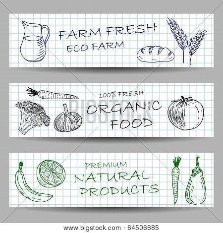 Hand Drawn Farm Banners
