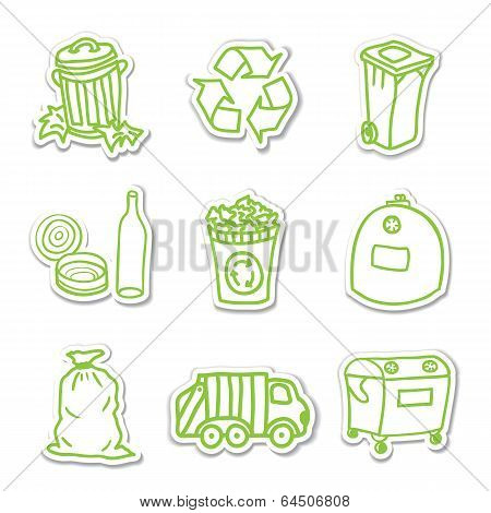 Garbage Icon Stickers