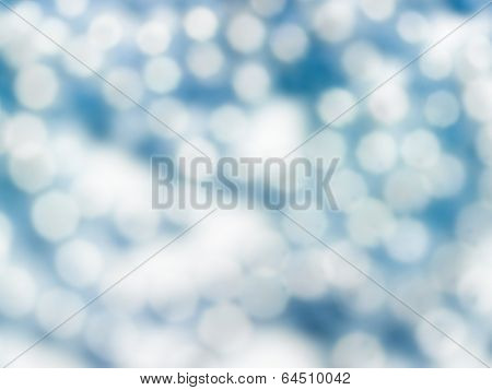 Abstract blue shiny blurred out of focus background texture