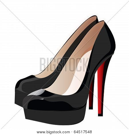 Heels Shoes Woman Vector