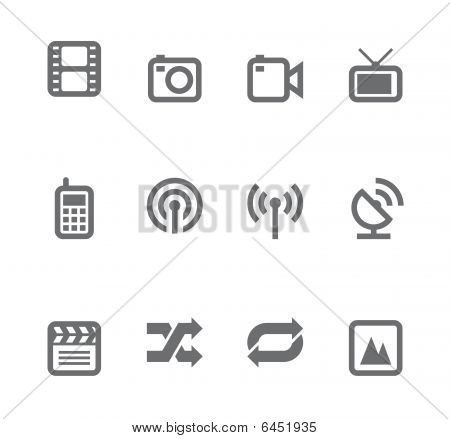 Simple icons isolated on white - Set 11