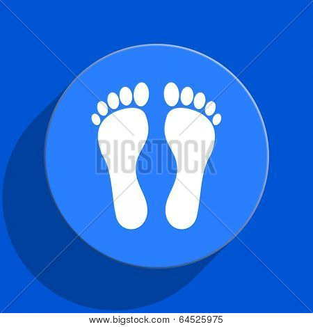 foot blue web flat icon