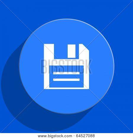 disk blue web flat icon