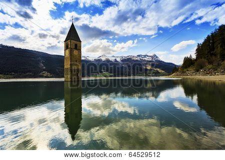 Campanile di Curon, Lago di Resia - Italy