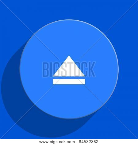 eject blue web flat icon