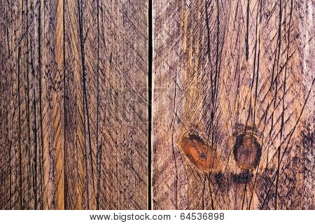 Wall Wooden Planks Painted Brown