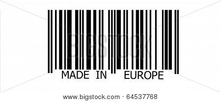 Made In Europe On Barcode