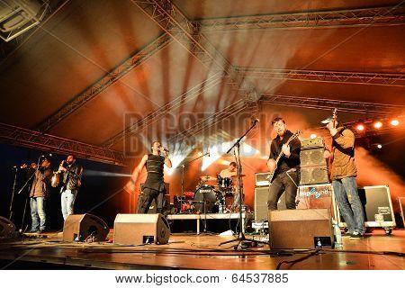 Reggae Band On Stage