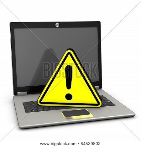 Warning Triangle Laptop