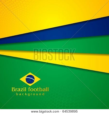 Tech vector background in Brazilian colors