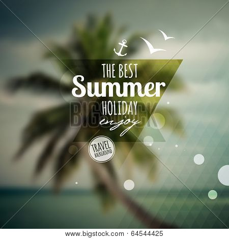 Creative graphic message for your summer design.