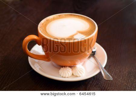 Orange Cup Of Coffe