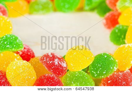 Frame A Background  Colorful Sweets Of Sugar Candies
