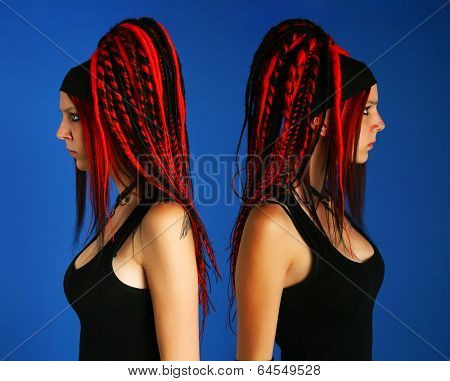 Girl with dreadlocks