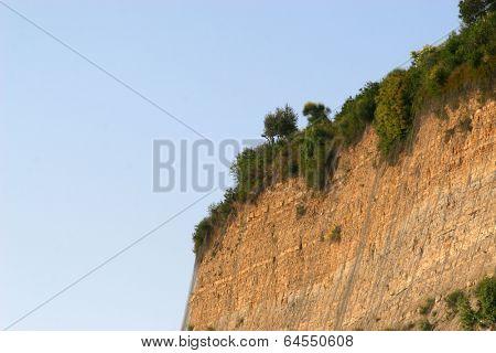Dangerous steep clif