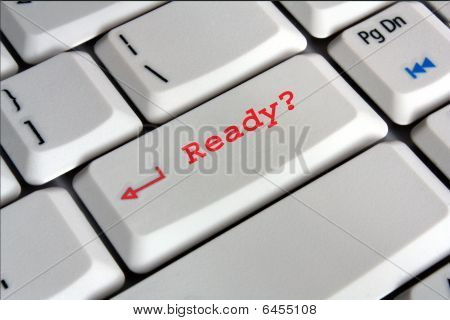 computer keyboard enter key saying ready