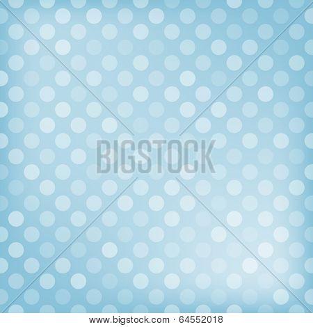 Polka dot blue background. Vector illustration