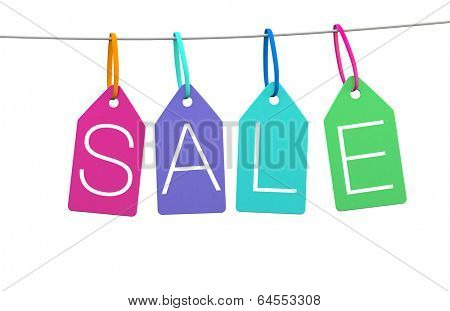 Sale graphic in a modern style for print or web banner ads