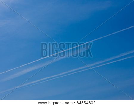 Blue Sky Contrail Floats