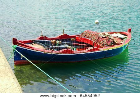 Boat Near Fort Of Bizerte, Tunisia