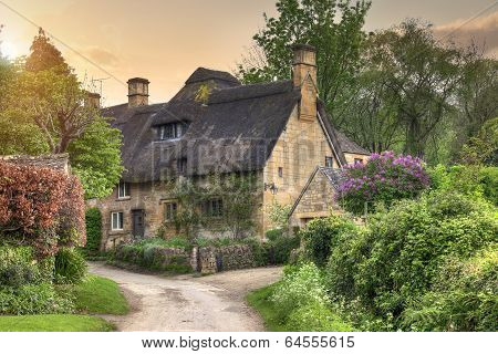 Cotswold Cottage at Sunset