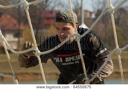 man on net stair on survival festival game NaPredele