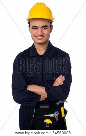 Young Handyman With A Tool Belt