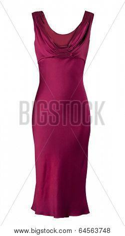 red fashion dress isolated on white