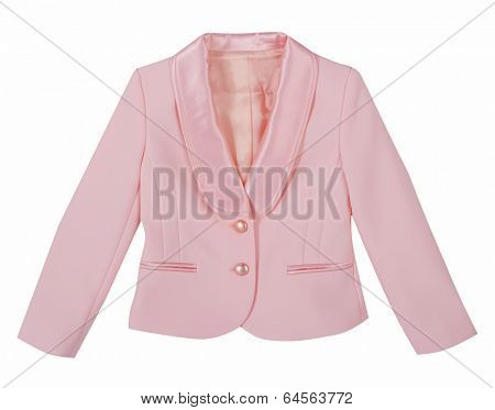 pink jacket isolated on white