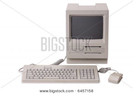 Classic Computer With Keyboard
