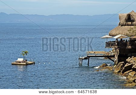 Thatched Roof Hut With Floating Deck