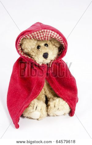 Teddy Bear in a Red Cape