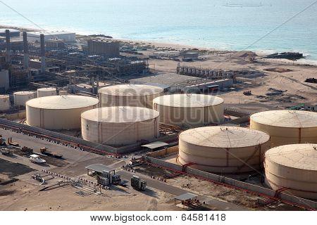 Storage Tanks At The Port