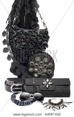 black fashion accessories