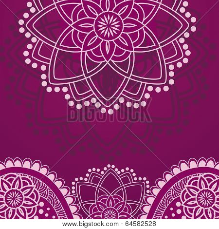 Purple Henna Background