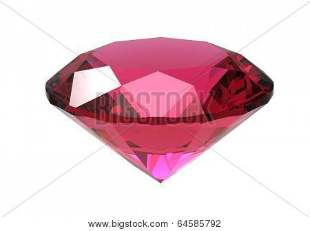 Gemstone  isolated on white background.