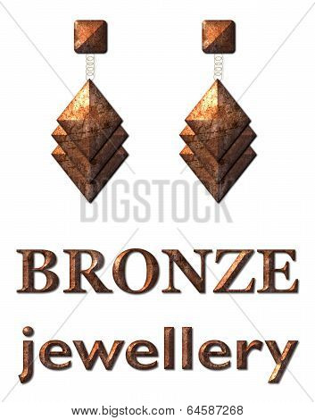 Fashion Jewelry Earrings Bronze