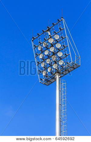 Stadium Light On Blue Sky