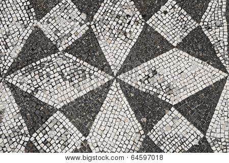 Floor mosaic - Villa Adriana, Tivoli, Rome, Italy