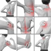 stock photo of red back  - Pain in a man - JPG