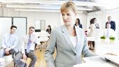 stock photo of bad mood  - Business people getting bad mood - JPG