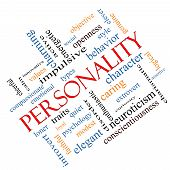 foto of character traits  - Personality Word Cloud Concept angled with great terms such as cheerful character behavior and more - JPG