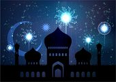 picture of hari  - Vector Illustration of Mosque for Muslim Celebration - JPG
