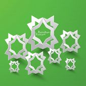 picture of hari raya  - Vector 3D Muslim Pattern Paper Sculpture - JPG