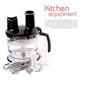 pic of food processor  - Food processor isolated on a white - JPG
