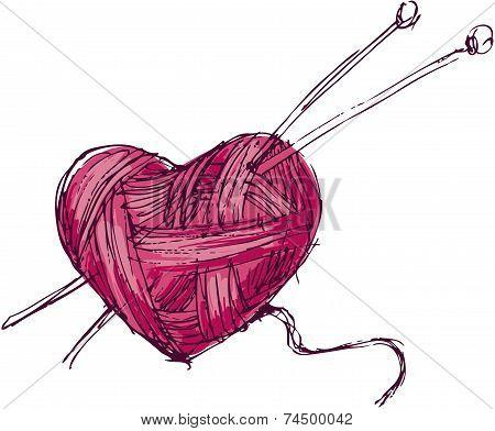 Heart of yarn