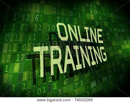 Online Training Words Over Digital Background