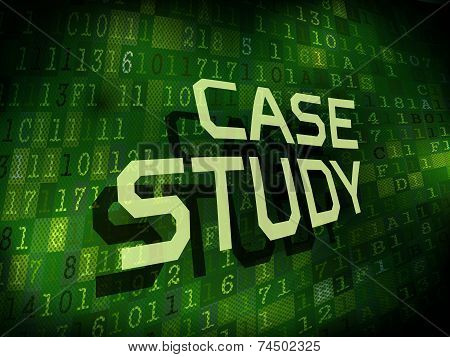 Case Study Words Isolated On Digital Background