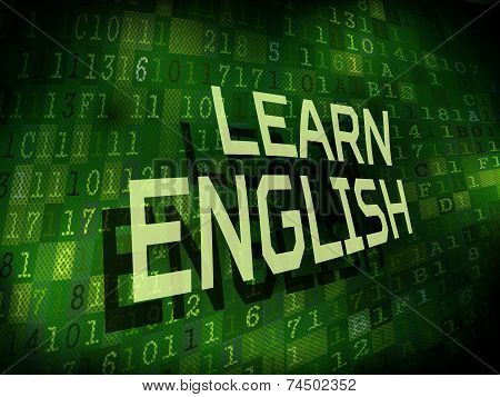 Learn English Words Isolated On Digital Background